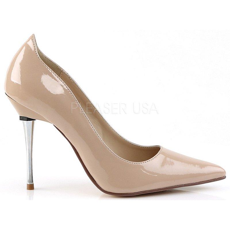 Pleaser APPEAL-20 beige schoenen met naaldhakken maat 35 - 36